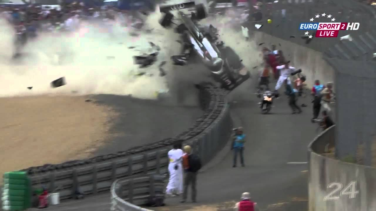 Le Mans crash 2011  Allan McNish  YouTube