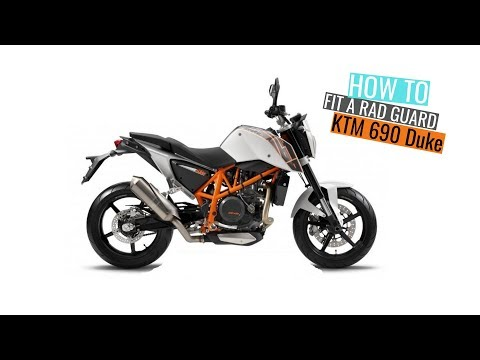 KTM  Duke  -  Rad Guard fitting instructions