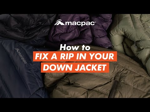 How to fix a rip in your down jacket