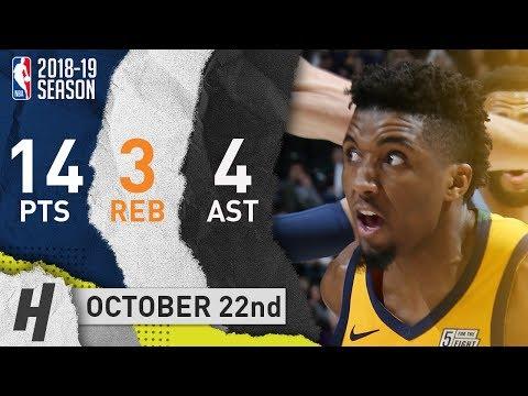 Donovan Mitchell Full Highlights Jazz vs Grizzlies 2018.10.22 - 14 Pts, 3 Reb, 4 Ast!