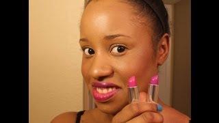 Maybelline Vivid Lipsticks Hot Plum amp Brazen Berry Lip Swatch Hand Swatch