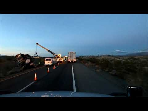 Accident on I40 in New Mexico Camper