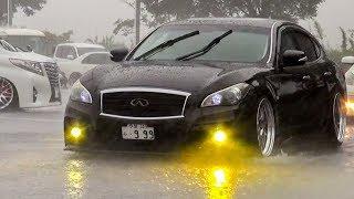 【驚愕】VIPCAR 浸水!?ゲリラ豪雨 を疾走する 車高短  - slammedcar lowcar thumbnail