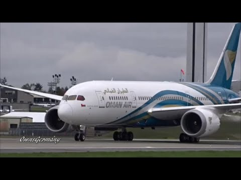 1st Oman Air Boeing 787 Dreamliner Finishing Test Flight @ KPAE Paine Field