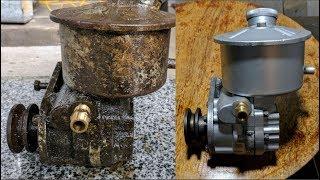 AIR COMPRESSOR Pump Restoration Part 2 (CleanUp) - Oil lubrication Pump Restore It