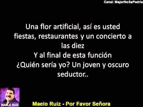 Maelo Ruiz - Por Favor Señora - CON LETRA
