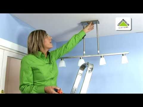 Colocar una l mpara de colgar leroy merlin youtube - Como colocar pladur en techo ...