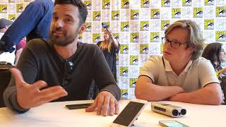 """Jake Johnson and Cole Sibus """"Stumptown"""" Interview at Comic-Con"""