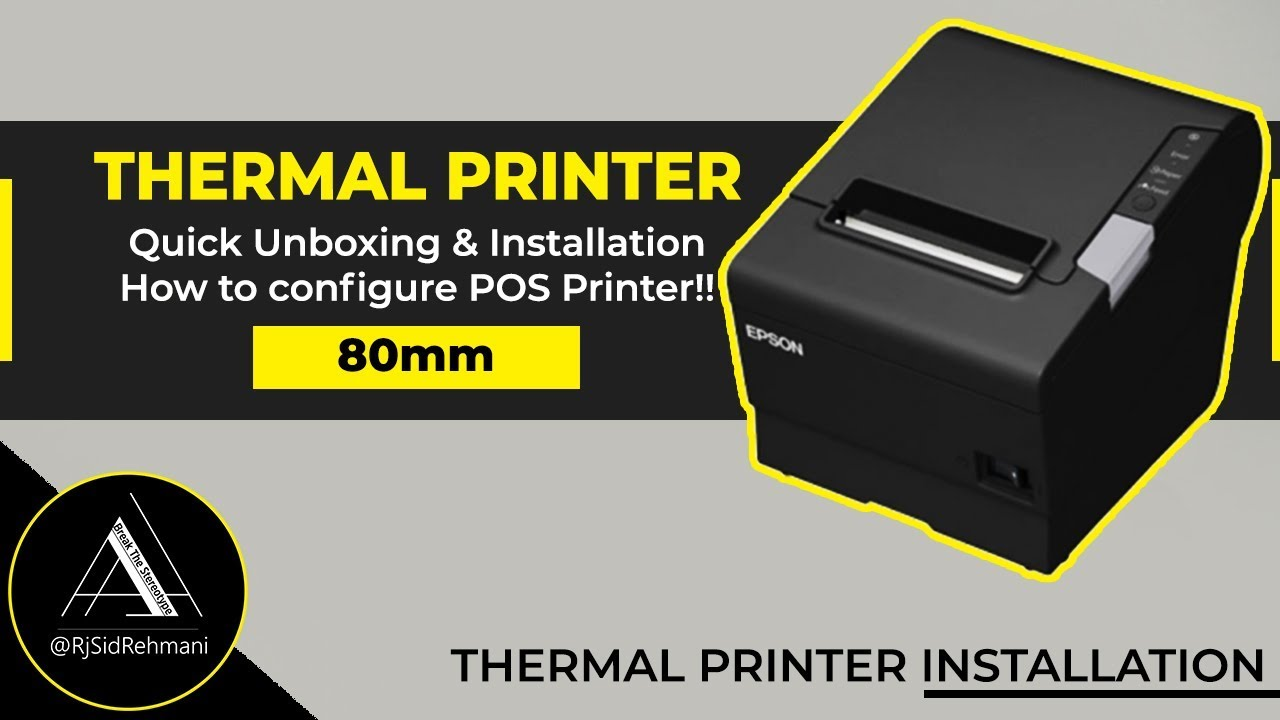 THERMAL PRINTER UNBOXING & INSTALLATION || 80MM POS PRINTER || AUTO PAPER  CUTTER USB