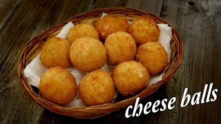 Cheese Balls Recipe - Cafe Style Perfect Snacks CookingShooking