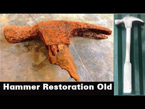 Restoration Rusty Hammer Old  Hammer Restoration Project  Restoration handmade