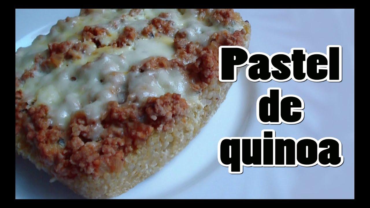 C mo cocinar quinoa pastel de quinoa youtube for Como cocinar quinoa