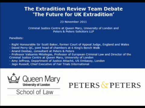 """The Extradition Review Team Debate - """"The Future for UK Extradition"""""""