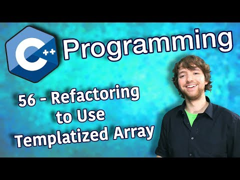 C++ Programming Tutorial 56 - Refactor Guessing Game to Use Templatized Array thumbnail