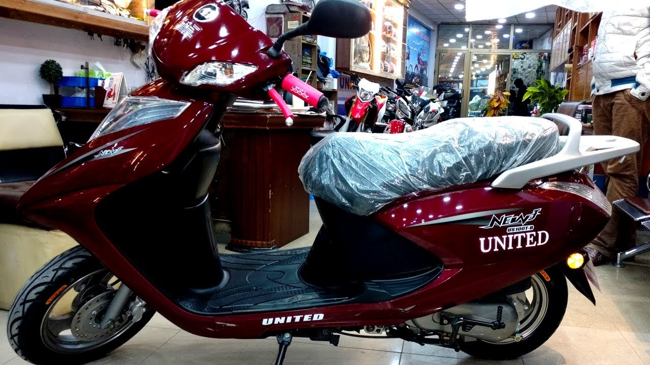 FULLY AUTOMATIC UNITED 100CC SCOOTY FULL REVIEW ON PK BIKES