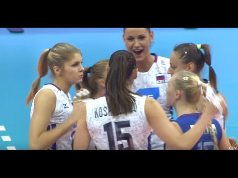 2015 EuroVolley Russia VS Italy Quarterfinal European Women Volleyball