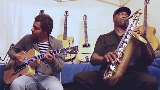 """Bye Bye Blues"" James CARTER saxophone, Mathias LEVY violin, Romane & Pierre MANETTI guitares"