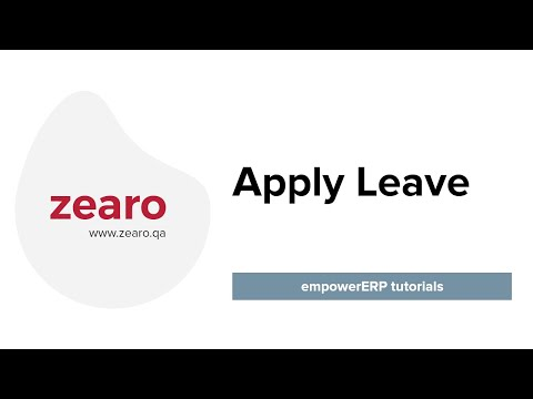 How to Apply Leave in EmpowerERP