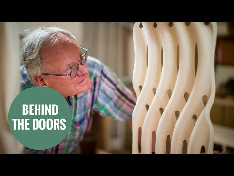 Britain's greatest furniture maker at work at his world-famous workshop