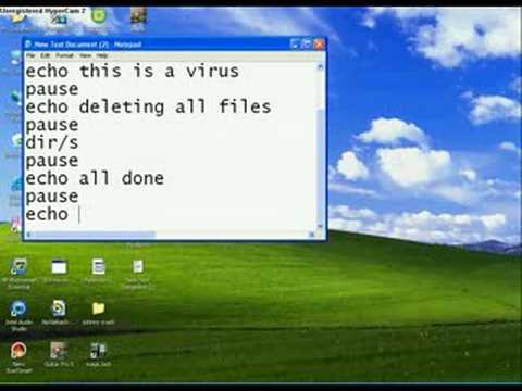 HOW TO CREATE A CMD VIRUS