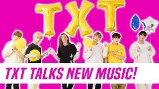 TXT (TOMORROW X TOGETHER) Interview + 'Cat & Dog' Dance Tutorial With Liam McEwan