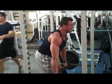 Pushing Chuck through a set of semi deadlift!