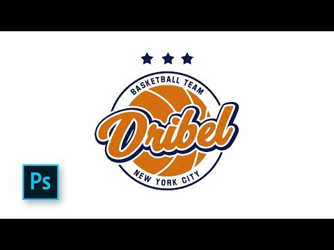 How To Create A Basketball Logo Design - Make A Sports Team Logo With Photoshop
