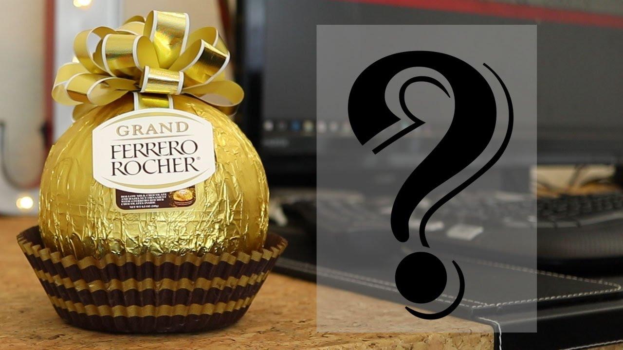 What's Inside a Giant Ferrero Rocher ? ( Ferrero Rocher Grand ) - YouTube