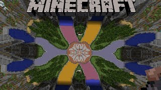 Minecraft Creation: Medieval Hub Spawn! Amazing creation!