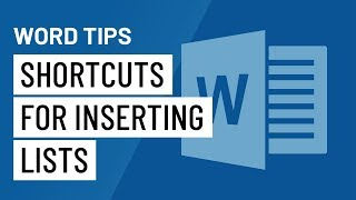 Word Quick Tip: Shorтcuts for Inserting Lists