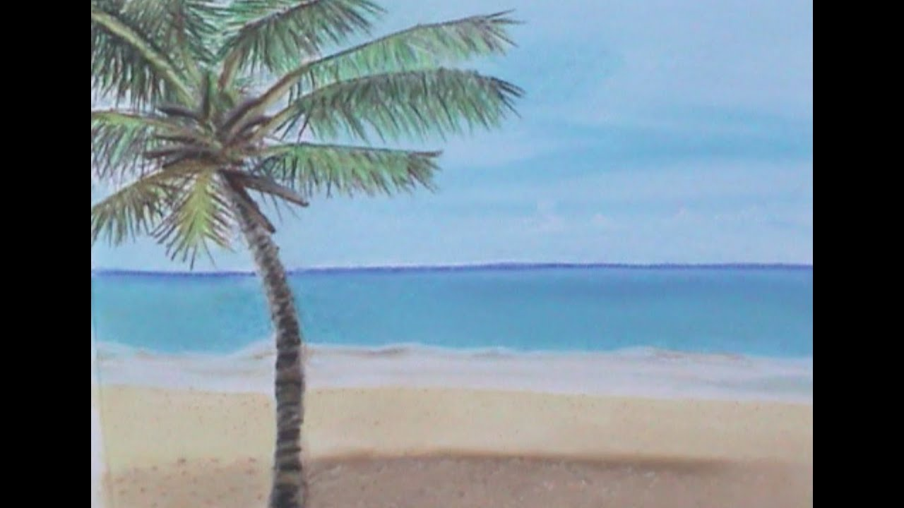 Beginners Soft Pastel tutorial  How to draw a Beach view with