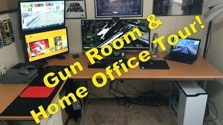 Gun Room / Man Cave / Home Office Setup Tour