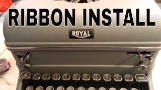 Royal Typewriter Ribbon Install Rewind Reverse Spools KHM KMM FPE FPP HE H 440 550 10