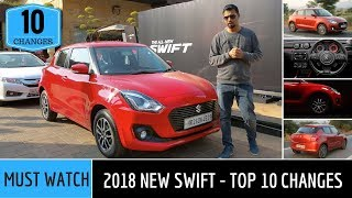 New Maruti Swift 2018 India : Top 10 Changes