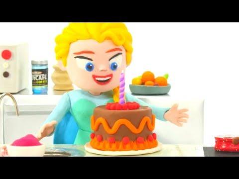 FROZEN ELSA IS COOKING ❤ Frozen Elsa Play Doh Cartoons ❤ Dibujos Animados de Play Doh de Frozen