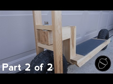 How to Build a Wood Scooter |  Part 2 of 2