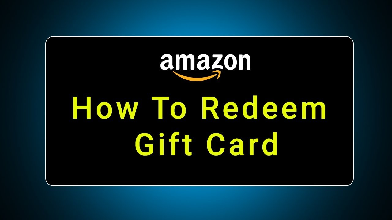 How to redeem Amazon India gift card voucher Code? - YouTube