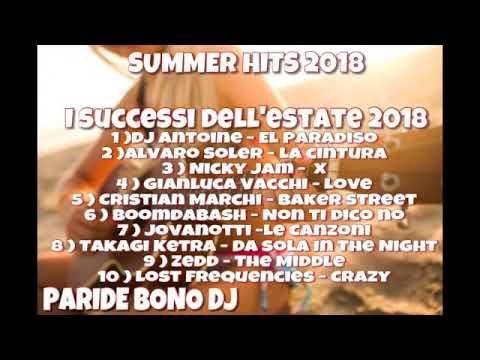 I Tormentoni Dell Estate 2018 Le Canzoni Del Momento 2018 Summer Hits 2018 Paride Bono Dj Youtube