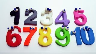 Learn Numbers 1-10 Spelling Colors Play Doh for Kids Toddlers Preschoolers Babies
