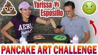 Dibujando Pancakes 💩 PANCAKE ART CHALLENGE   Yarissa ♥