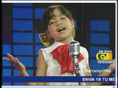 "SALOME niña cantante de 8 años sorprendente! ""me gustas mucho"""
