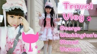 Travel Vlog | Wearing Anime Inspired Dress in Public | George Washington's Mount Vernon | Real life