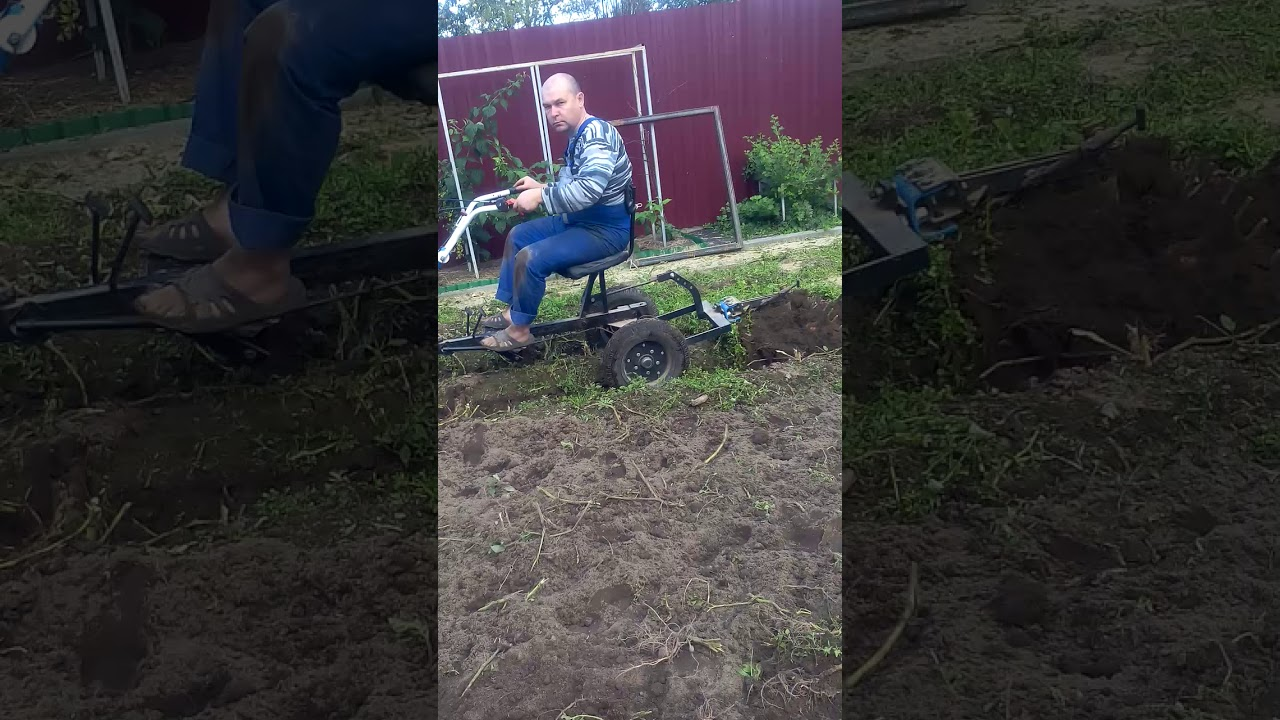 Мотоблок Нева+адаптер копка картошки