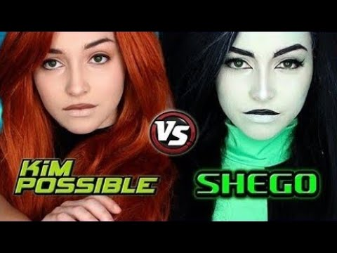 Kim Possible vs. Shego Live-Action | Kim and Shego Makeup Tutorial
