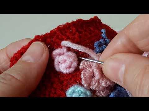 Вышивка рококо по вязаному полотну видео