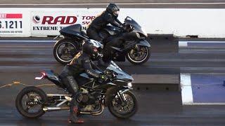 Rematch - Hayabusa vs H2 Kawasaki Ninja - motorcycles racing