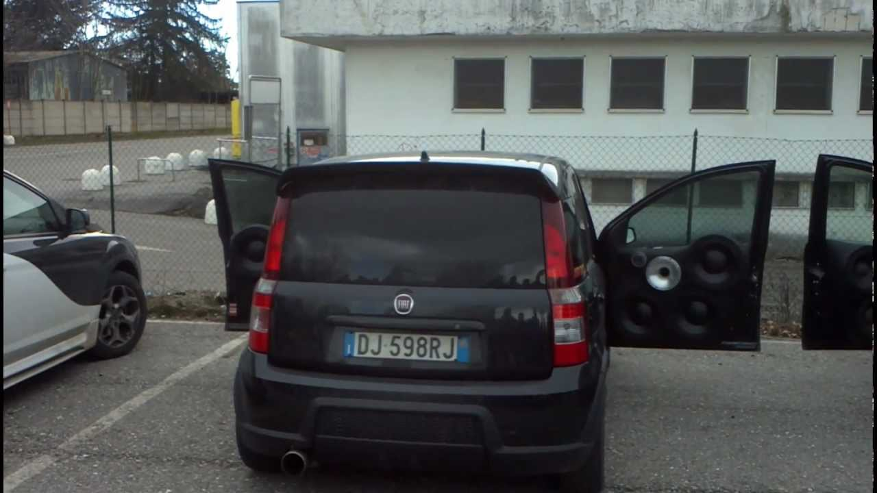 fiat panda 100hp team audio spl youtube. Black Bedroom Furniture Sets. Home Design Ideas