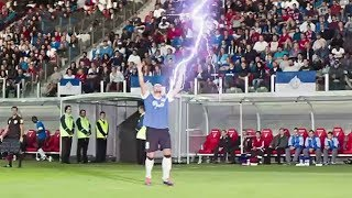 Lightning Strikes In Football