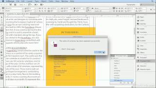 Adobe Indesign Cs6 Tutorial - 19  Adding A Table Of Contents And Jump Page Numbers