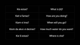 Esperanto 101: Questions, Negation, Conjunctions